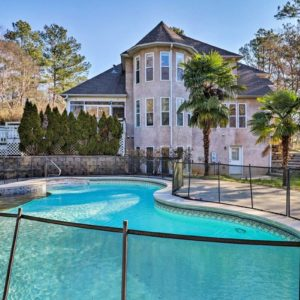 airbnb atlanta mansion with pool-Option 5-Pool and mansion facade