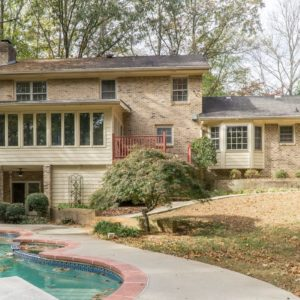 airbnb atlanta mansion with pool-Option 6-Pool and mansion facade